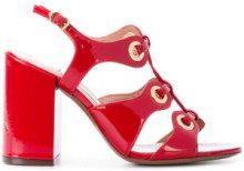 L'Autre Chose - Sandali con occhielli - women - Leather/Patent Leather - 36, 37, 39, 40 - Rosso
