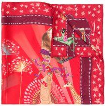 Salvatore Ferragamo - Hollywood Movie print silk - women - Silk - One Size - RED