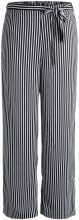 PIECES Wide Striped Trousers Women Black
