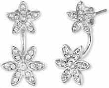 Anne Klein, Base in metallo, colore: argento, tonalità Floater Orecchini con un fiore con pietre di cristallo