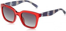 Tommy Hilfiger Th 1512/S 9O C9A, Occhiali da Sole Donna, Rosso (Red/Dark Grey Sf), 50