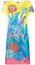 Marc Cain - printed flowers midi dress - women - Polyester/Spandex/Elastane/Cupro - 38, 40 - MULTICOLOUR