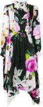Off-White - Vestito con stampa a fiori - women - Silk - 38, 42, 40 - Nero