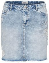 ONLY Embroidery Denim Skirt Women Blue