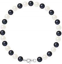 Pearls & Colors Bracciale intrecciato Donna argento 925_argento perla rotonda - AM17-BRA-AG-R67-M-WHBL