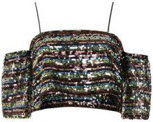 Nk - sequin cropped top - women - Polyester - 34, 36, 38, 44 - MULTICOLOUR