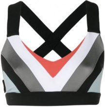 No Ka' Oi - colour block crop top - women - Nylon/Polyester/Spandex/Elastane - XS, L - BLACK