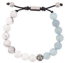 Nialaya Jewelry - beaded bracelet - men - Gemstone/stainless steel - S, M, L, XL, XXL - BLUE