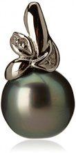 Pearls & Colors sospensione singola (senza collana), in oro bianco 9 kt con perle di acqua dolce, taithiana (9PR02-PC
