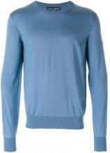 Dolce & Gabbana - crew neck jumper - men - Silk - 52, 54 - BLUE