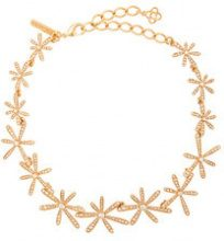 Oscar de la Renta - Daisy collar necklace - women - Brass/Pewter - OS - METALLIC