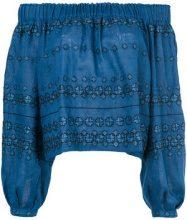 Vita Kin - Blusa con spalle scoperte - women - Linen/Flax - S - BLUE