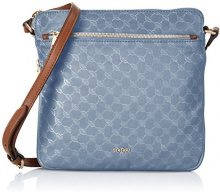 Joop! Nylon Cornflower Lola Shoulderbag Mhz - Borse a spalla Donna, Blau (Light Blue), 7x24x25 cm (B x H T)
