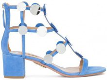 Aquazzura - disc embellished gladiator sandal - women - Leather - 37.5, 38, 38.5, 39, 36, 37 - BLUE