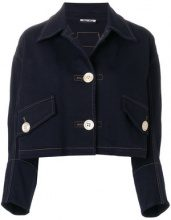 Miu Miu - cropped denim jacket - women - Cotone/Spandex/Elastane - 38, 44 - BLUE