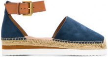 See By Chloé - denim espadrilles - women - Leather/Suede/rubber - 36, 37, 38, 39 - BLUE