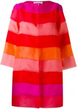 Gianluca Capannolo - tonal layered coat - women - Silk - 38, 40 - RED