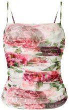 Dolce & Gabbana - ruched mesh top - women - Cotone - 38, 40, 42 - Bianco