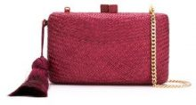 Serpui - straw clutch - women - Straw - OS - RED