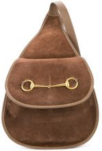 Gucci Vintage - horsebit detail shoulder bag - women - Leather/Suede - OS - BROWN