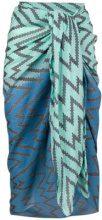 Tara Matthews - Murtoli zig-zag pareo scarf - women - Cashmere - OS - BLUE