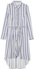 FIND Tie Waist Shirt Gonna Donna, Blu (Blue/white), 50 (Taglia Produttore: XX-Large)