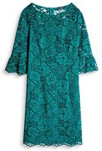 ESPRIT Collection 097eo1e004, Vestito Donna, Verde (Dark Teal Green 375), 38