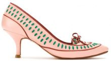- Sarah Chofakian - embroidered pumps - women - pelle di capra - 39, 36, 37, 38 - di colore rosa