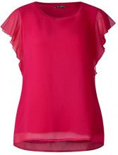 Street One 312068 Gesine, T-Shirt Donna, Rosa (Carribean Pink 11293), 40
