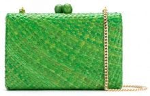Serpui - straw clutch - women - Straw - OS - GREEN