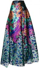 Talbot Runhof - floral coupé dress - women - Silk/Polyester - 36, 38, 40, 42, 46 - MULTICOLOUR