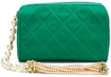 Chanel Vintage - pearl and tassel bag - women - Leather/Canvas - OS - GREEN