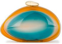 Benedetta Bruzziches - Clutch 'Ariel' - women - Plexiglass/Silk - OS - Blu