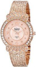 Burgi BUR120RG Orologio da Donna, Bracciale Attorcigliato in Metallo, Oro/Rosa
