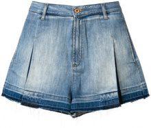 Diesel - Shorts 'De-Jizzy-S' - women - Cotone/Leather - 24, 31, 27, 29 - Blu