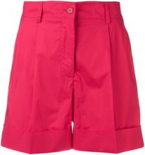 P.A.R.O.S.H. - Shorts con banda laterale - women - Cotone - XXS, XS - Rosso