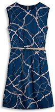 ESPRIT Collection 077eo1e003, Vestito Donna, Blu (Navy 400), 44