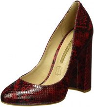 Buffalo London ZS 6110-15 Snake Co 7109, Décolleté Donna, Bordeaux, EU 39