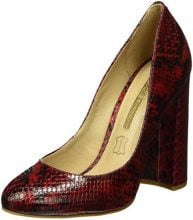 Buffalo London ZS 6110-15 Snake Co 7109, Décolleté Donna, Bordeaux, EU 38