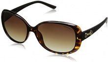Polaroid Donna P8430 LA 581 Occhiali da sole, Nero (Havana Black/Brown Shaded Polarized), 58