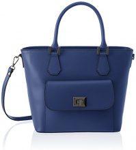 Chicca Borse 8855, Borsa a Spalla Donna, Blu (Blue), 37x25x17 cm (W x H x L)