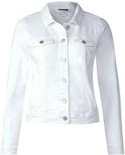 Street One 210697, Giacca in Jeans Donna, Bianco (White Denim 11371), 42