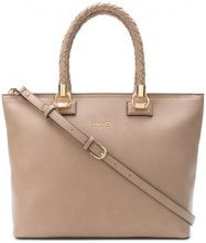 - Liu Jo - Manhattan woven handle tote - women - fibra sintetica - Taglia Unica - color carne
