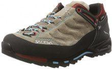 SALEWA MTN Trainer Gore-Tex, Scarpe da Arrampicata Basse Donna, Multicolore (Beige/Rosso), 38.5 EU