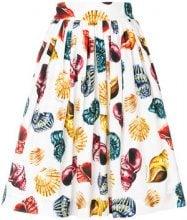 Dolce & Gabbana - Gonna con stampa conchiglie - women - Cotone - 42 - WHITE