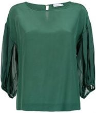 Isolda - Cynara top - women - Silk - 46 - Verde