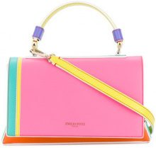 Emilio Pucci - top handle satchel - women - Calf Leather - One Size - MULTICOLOUR