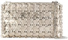 Red Valentino - hardware embellished clutch - women - Leather - One Size - METALLIC