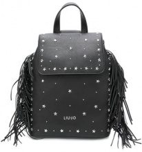 Liu Jo - star studded fringed backpack - women - Polyester - OS - Nero