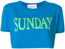 Alberta Ferretti - Sunday cropped T-shirt - women - Cotton - XS, M, L, S - BLUE